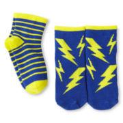 Okie Dokie 2-pk. Lightning Socks - Boys