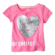 Joe Fresh™ Glitter Tee - Girls 1t-5t