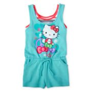 Hello Kitty® Peace Sign Layered Romper - Girls 4-16