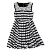 Speechless Striped Sleeveless Dress - Girls 7-16