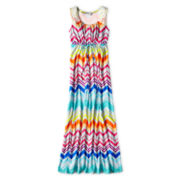 Speechless Rainbow Chevron-Print Sleeveless Maxi Dress - Girls 7-16