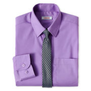 IZOD® Long-Sleeve Shirt and Tie Set - Boys 6-18