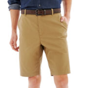 Claiborne® Flat-Front Canvas Shorts