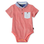 Baker by Ted Baker Piqué Polo Bodysuit - Boys newborn-24m