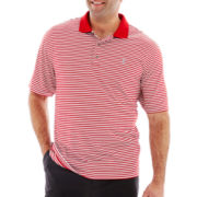 IZOD® Short–Sleeve Striped Golf Polo–Big & Tall