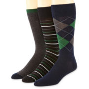 Stafford® 3-pk. Cotton-Rich Socks
