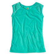 Total Girl® Studded Tunic Top - Girls 6-16 and Plus