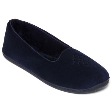 jcpenney.com | Dearfoams® Embroidered Velour Slippers