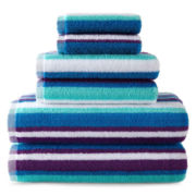 JCPenney Home™ 6-pc. Striped Towel Set