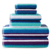 JCPenney Home™ 6-pc. Striped Bath Towel Set