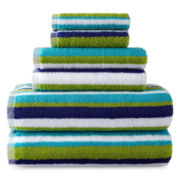 JCPenney Home™ 6-pc. Striped Bath Towel Set