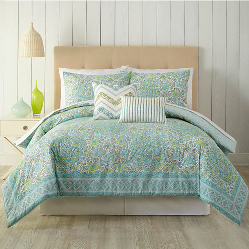 Indigo Bazaar Indian Floral 5-pc. Comforter Set