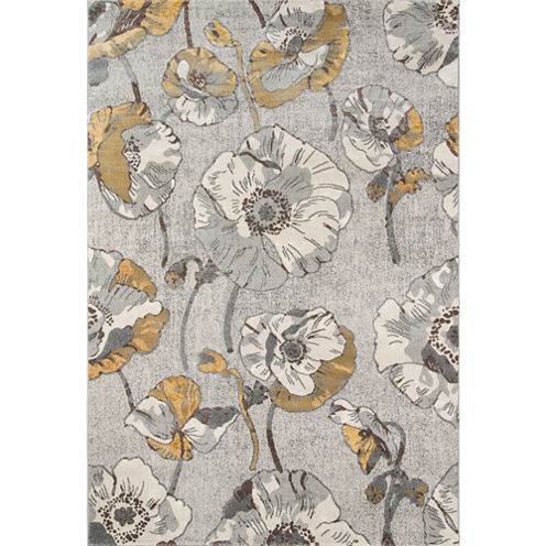 Momeni Luxe Large Floral Rectangular Rugs
