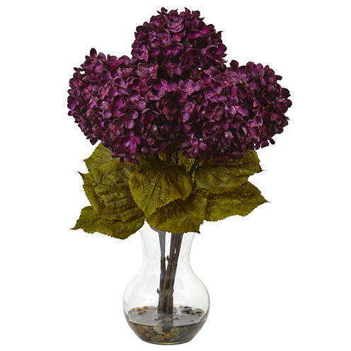 """18"""" Hydrangea Silk Floral Arrangement"""