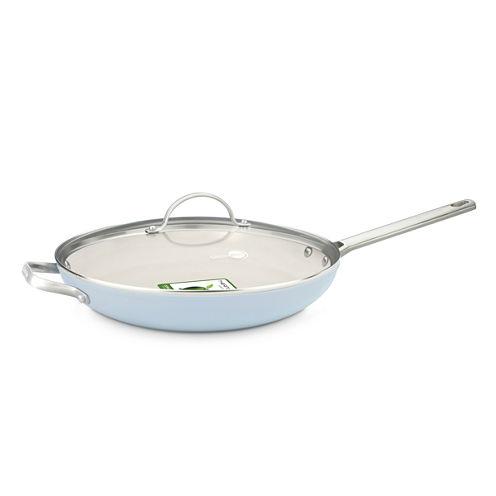 "GreenPan™ Padova 12"" Ceramic Nonstick Fry Pan with Lid and Helper Handle"