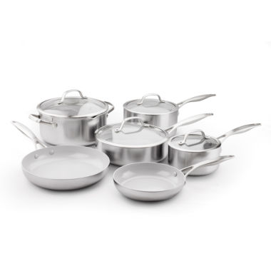 jcpenney.com | GreenPan Venice Pro 10-pc. Stainless Steel Cookware Set
