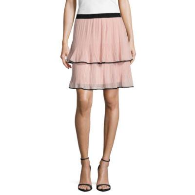 Worthington Tiered Pleated Skirt