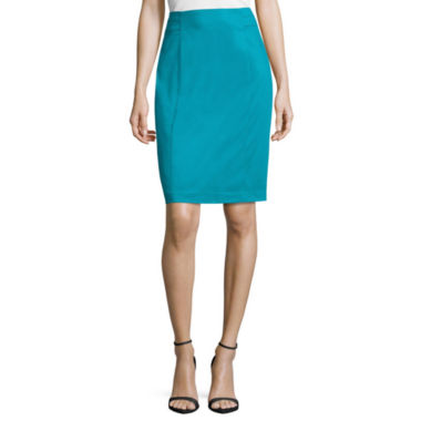 jcpenney.com | Worthington Sateen Skirt Pencil Skirt