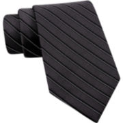 Claiborne Thin-Stripe Silk Tie