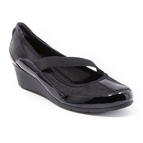 Andrew Geller Sacey Slip-On Wedge Shoes