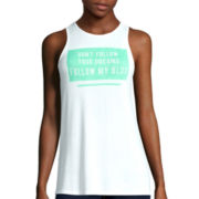 Decree® Drapey Screen Tank Top