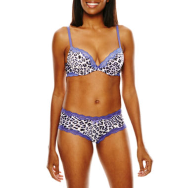 jcpenney.com | Ambrielle® Sensual Stripe Push Up Bra or Hipster Panties