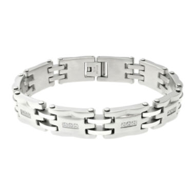jcpenney.com | Mens Cubic Zirconia Stainless Steel Link Bracelet