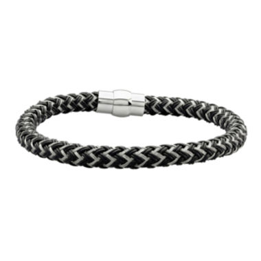 jcpenney.com | Mens Black IP Stainless Steel Braided Chain Bracelet
