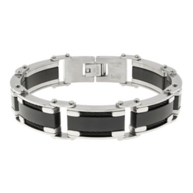 jcpenney.com | Mens Two-Tone Stainless Steel Chain Bracelet
