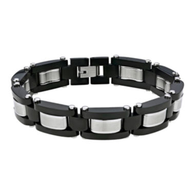 jcpenney.com | Mens Black IP Stainless Steel Link Bracelet