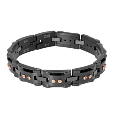jcpenney.com | Mens Black IP Stainless Steel Chain Bracelet