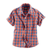 OshKosh B'gosh® Short-Sleeve Woven Cotton Shirt - Boys 4-14