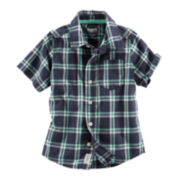OshKosh B'gosh® Short-Sleeve Woven Cotton Shirt - Preschool Boys 4-7