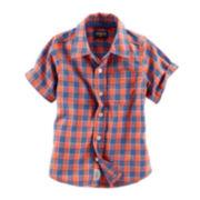 Oshkosh B'gosh® Short-Sleeve Woven Cotton Shirt - Toddler Boys 2t-5t