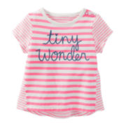OshKosh B'gosh® Cap-Sleeve Striped Tee - Baby Girls newborn-24m