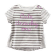 OshKosh B'gosh® Lilac Striped Tee - Baby Girls newborn-24m