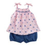 OshKosh B'Gosh® 2-pc. Print Babydoll Set - Baby Girls newborn-24m