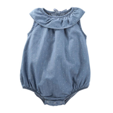 jcpenney.com | OshKosh B'gosh® Sleeveless Denim Sunsuit - Baby Girls newborn-24m