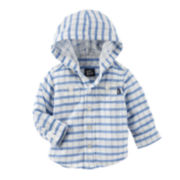 OshKosh B'gosh® Long-Sleeve Striped Woven Shirt - Baby Boys newborn-24m