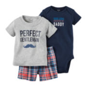 Carter's® 3-pc Short-Sleeve Gentleman Bodysuit Set - Baby Boys newborn-24m
