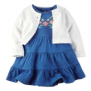 Carter's® Tiered Ruffle Dress and Cardigan Set - Baby Girls newborn-24m