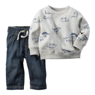 jcpenney.com | Carter's® Dinosaur Pullover and Jeans Set - Baby Boys newborn-24m