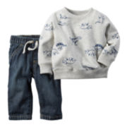 Carter's® Dinosaur Pullover and Jeans Set - Baby Boys newborn-24m