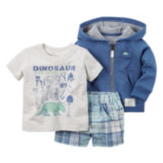 Carter's® 3-pc. Cardigan and Shorts Set - Baby Boys newborn-24m