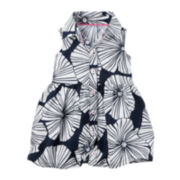 Carter's® Sleeveless Navy Flower Print Dress - Baby Girls newborn-24m