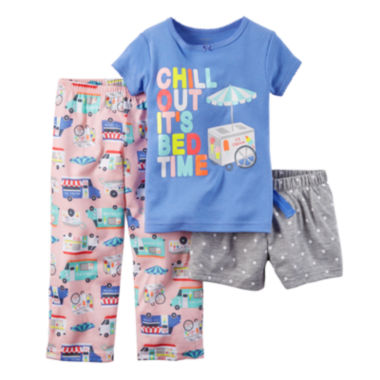 jcpenney.com | Carter's® Chill 3-pc. Pajama Set - Baby Girls 12m-24m