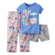 Carter's® Chill 3-pc. Pajama Set - Baby Girls 12m-24m