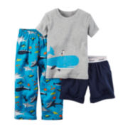 Carter's® Whale 3-pc. Pajama Set - Toddler Boys 2t-5t