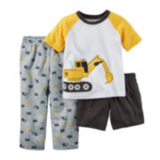 Carter's® Boy Construction 3-pc. Pajama Set – Baby Boys 12m-24m