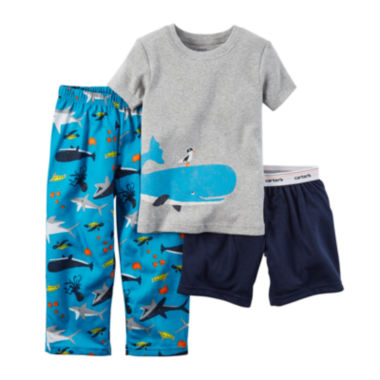 jcpenney.com | Carter's® Whale 3-pc. Pajama Set - Baby Boys 12m-24m